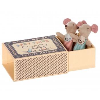 Muñecos ratoncitos gemelos en caja (Baby)