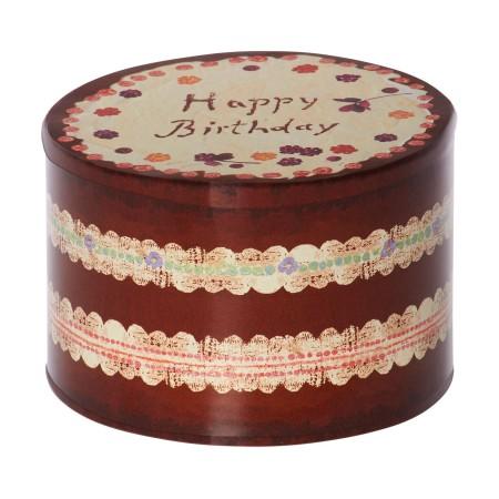 Caja de metal pastel de cumpleaños