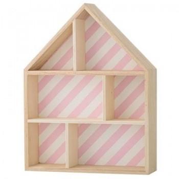 Casa expositora de madera, rosa
