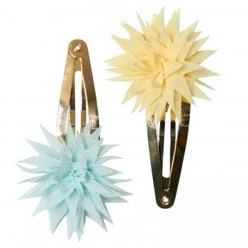 Hair clips Dhalia Lemon & Mint (2u.)