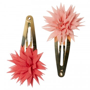 Hair clips Dhalia Raspberry & Melon (2u.)
