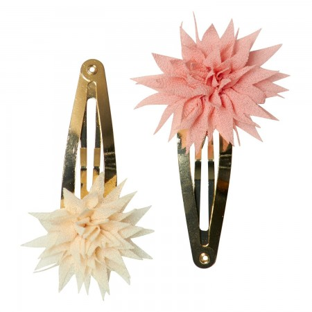 Horquilla clips, flor Dhalia, Vainilla & Rosa (2u.)