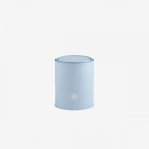 Star bucket with lid small size blue