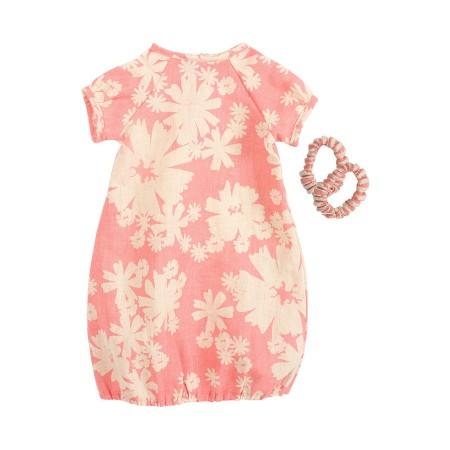 Vestido rosa, con 2 coleteros (Mega)