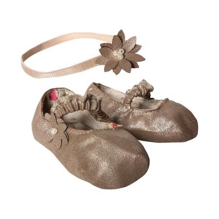 Mega silver shoe and hair band