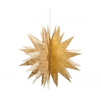 Estrella 3D de papel,   dorado