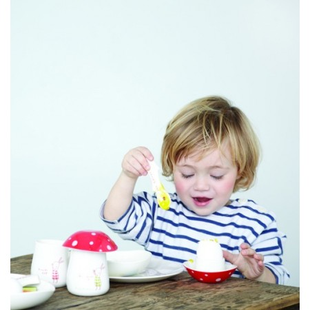 Tenedor infantil de melamina.