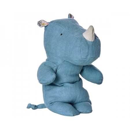 Peluche, pequeño rinoceronte, Azul
