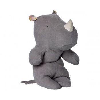 Peluche, pequeño rinoceronte, Gris