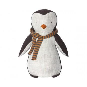 Peluche pingüino bufanda rayas