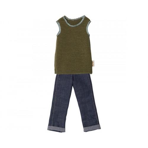 Pantalón y chaleco, ropa papá Ginger T1