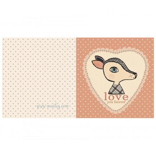 Bambi rose, double card