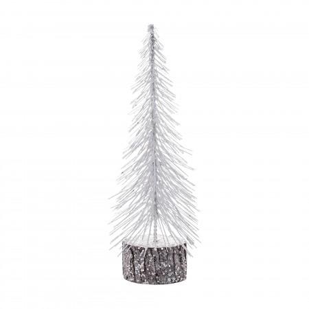 Árbol de Navidad blanco (30 cm)