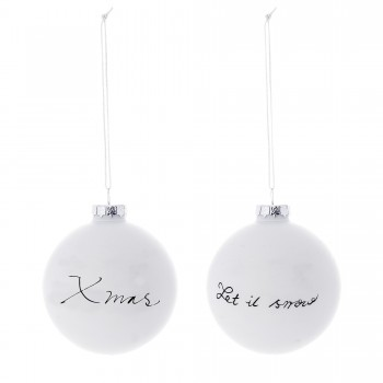 Ornament Christmas white black