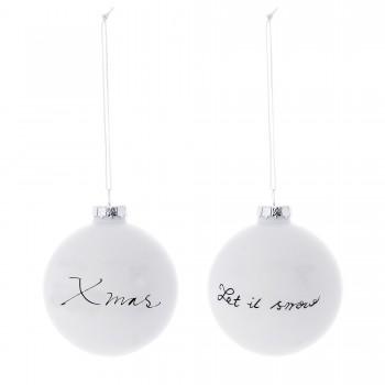 Ornament Christmas white black
