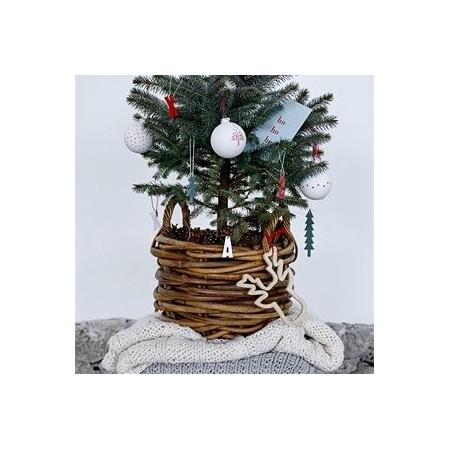 Bola decoración Navidad negro/blanco