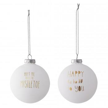 Bola decoración Navidad dorado/blanco