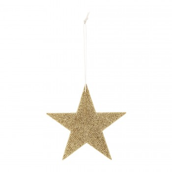 Ornament Star Sparkling gold