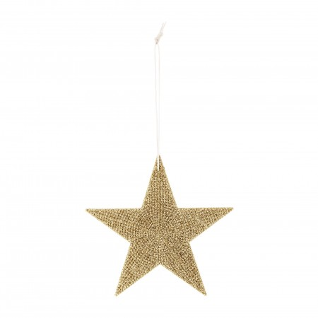 Ornament Star Sparkling gold