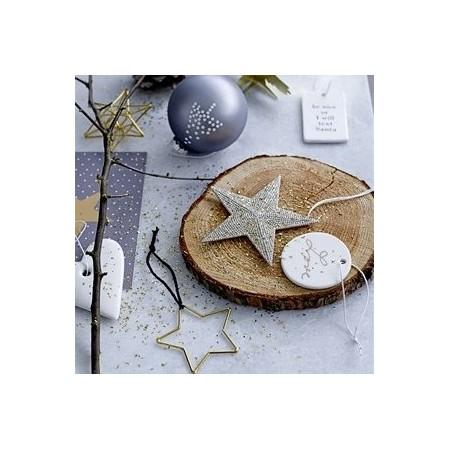 Estrella decoración blanca