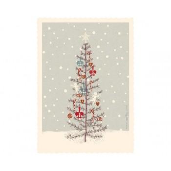 Tarjeta Navidad Árbol.
