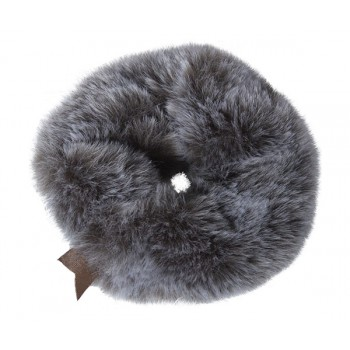 Plush scrunchie grey