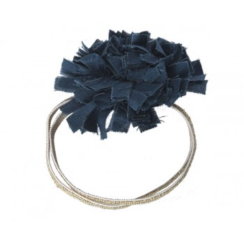 Hair elastic petrol blue