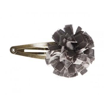 Horquilla clips flor Gris.