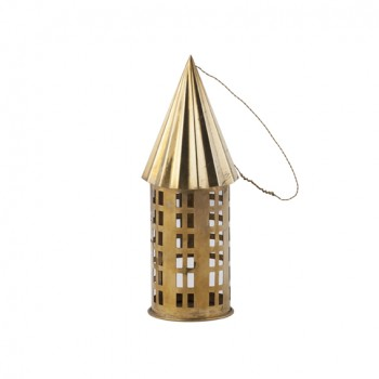 Candle holder brass House (20cm)