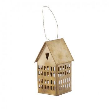 Casa portavelas latón (14 cm)