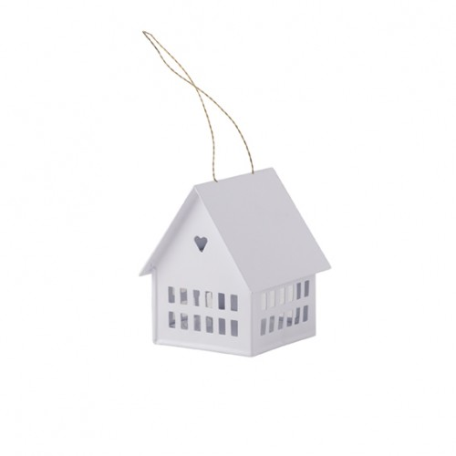 Candle holder white House (10cm)
