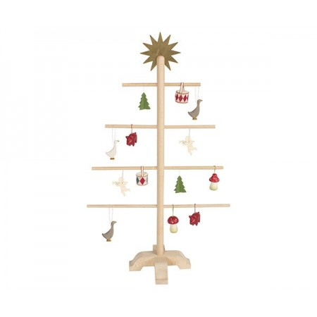 Árbol Navidad decoración, madera
