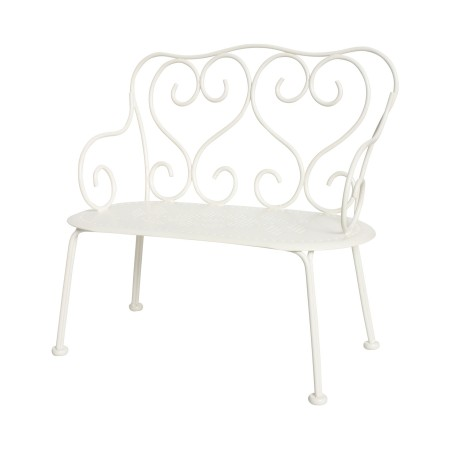 Romantic Metal Bench ( Mini), off white