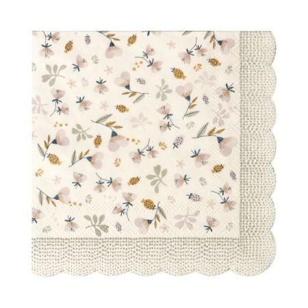 Napkin, Flower Field, Powder 12,5x12,5 cm