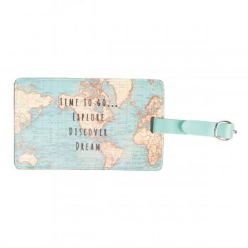 Luggage tag vintage map