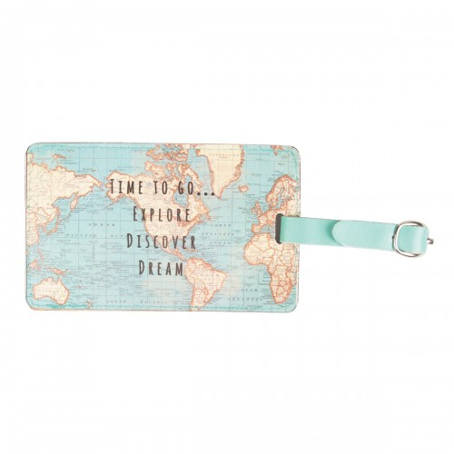 Luggage tag vintage map