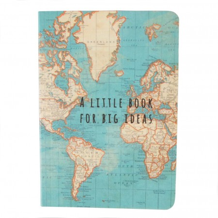 Libreta vintage mapa