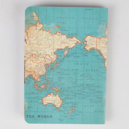 Pocket notebook vintage map