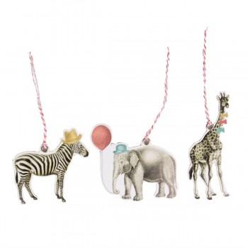 Party safari animals tags (set 12u.)