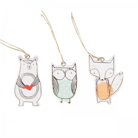Woodland animals tags (set 15u.)