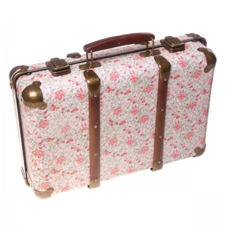 Suitcase vintage flowers