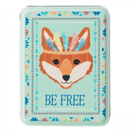 Storage tin fox Be Free