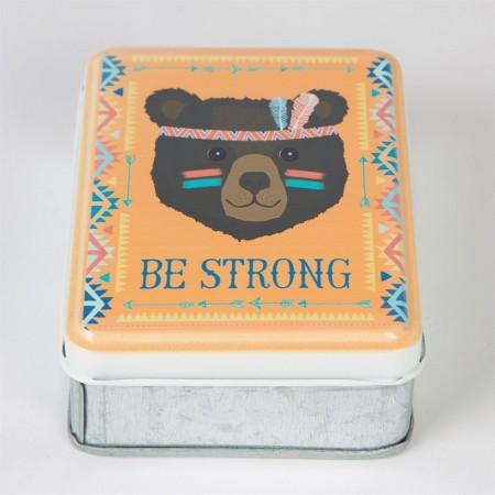 Storage tin bear Be Strong