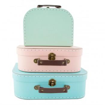 Suitcase retro pastel (set 3u.)