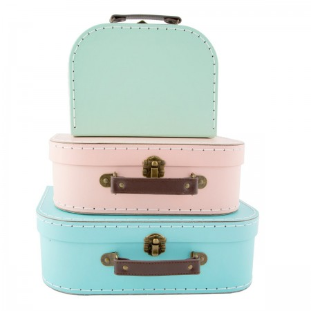 Suitcase retro pastel (set 3u.)