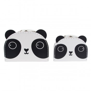Suitcase panda kawaii (set 2u.)