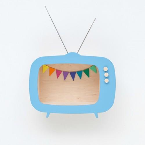 Televisor Expositor TV azul  (Grande)