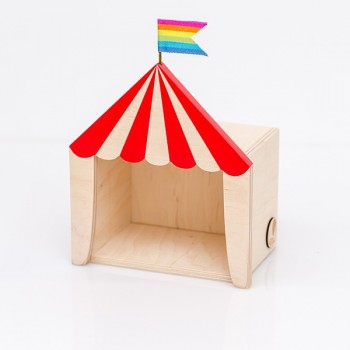 Circus shelf display red (Mini)
