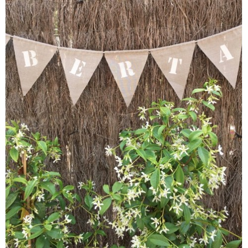 Custom made linen flag Garland