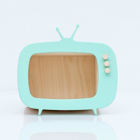 TV shelf display mint (Mini)